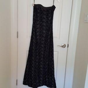 Scott McClintock black dress metallic embroidery 6